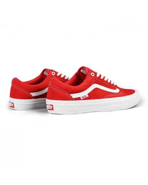 נעלי ואנס פרו-סקייטר Vans Shoes Pro OldSchool Red