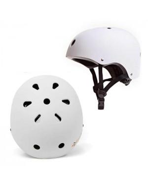 קסדה מקצועית לסקייטבורד / קורקינט (לבן) SkateBoard Helmet