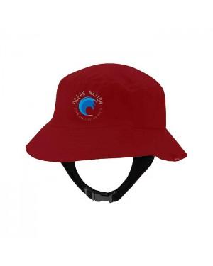 כובע גולשים אדום - Ocean Nation Red Hat