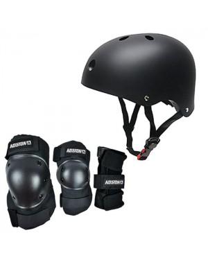 מבצע! קסדה + סט מגינים מקצועיים לסקייטבורד / קורקינט SkateBoard Helmet & Protectives