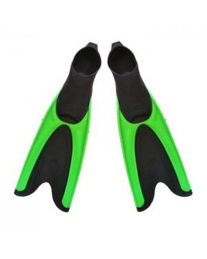 זוג סנפירים ירוק ארוך לשחיה וצלילה - Dive / Swim Fins