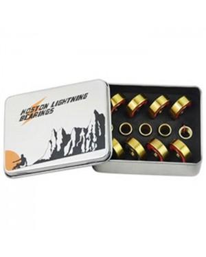 סט מייסבים טיטניום מקצועי לסקייטבורד (8 יח') Koston Pro Lightning Titanium ABEC-11 Bearings + Spacers